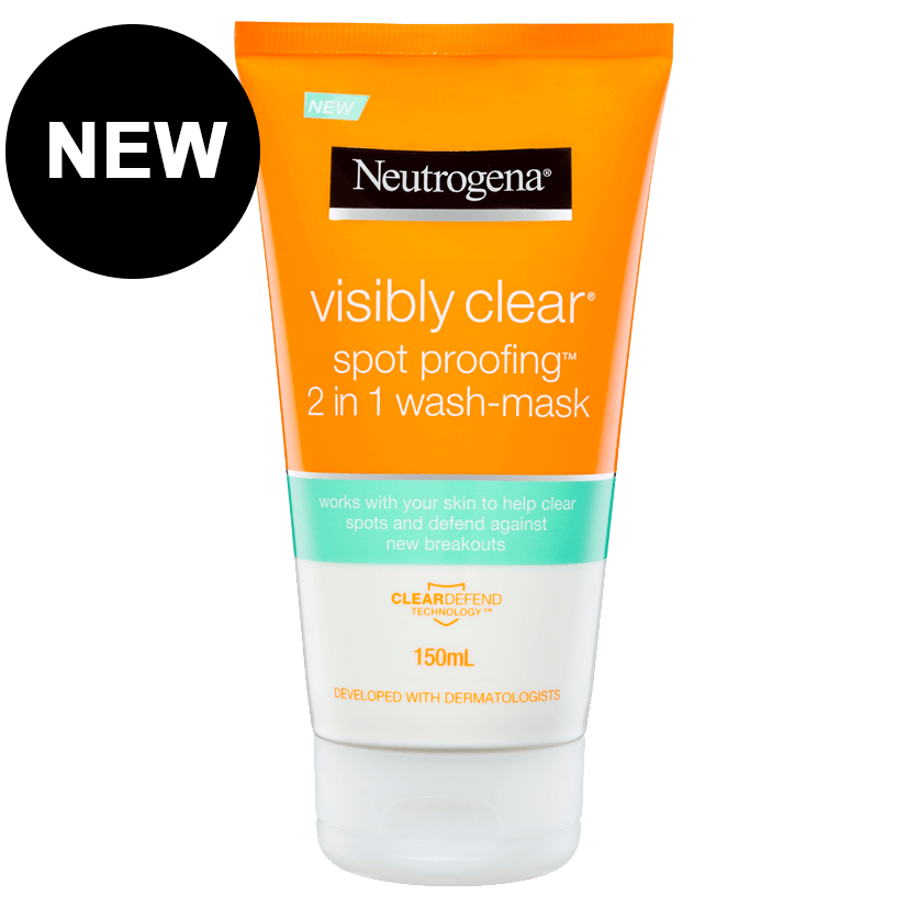Neutrogena® Visibly Clear Spot Proofing™ 2-in-1 Wash/ Mask